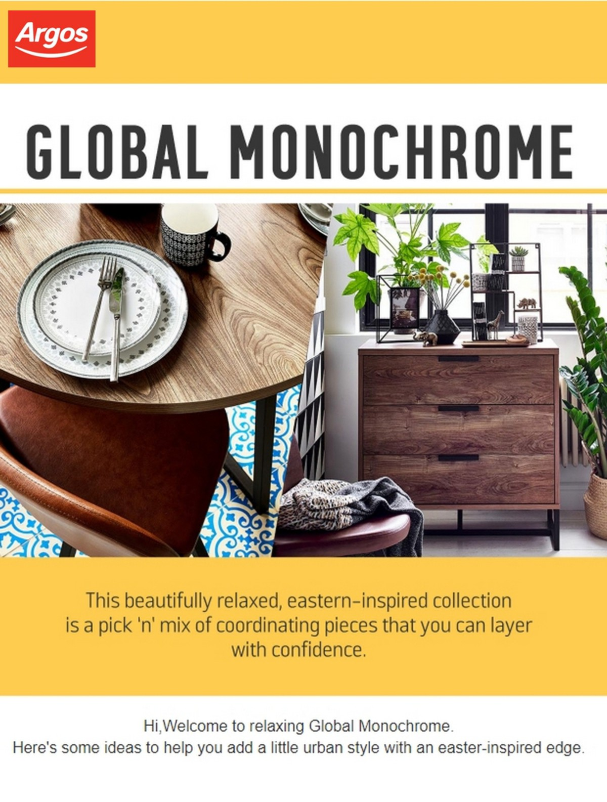Argos Introducing Global Monochrome Offers from May 20