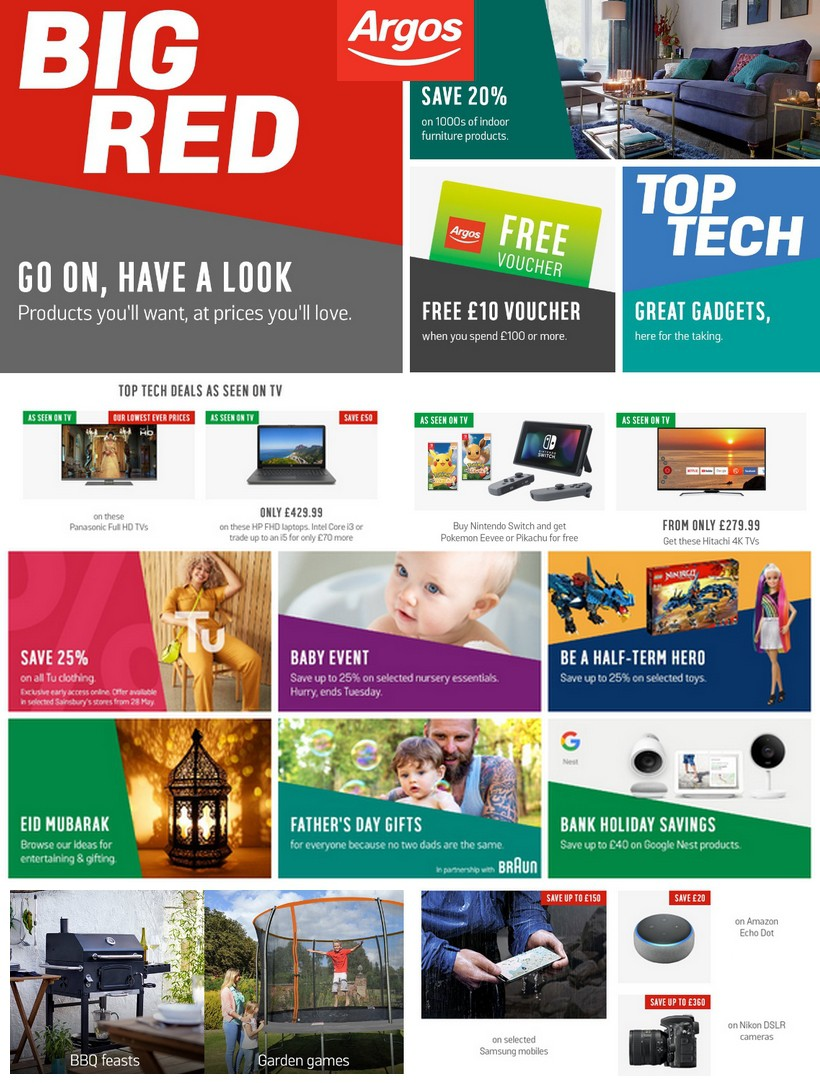 Argos Offers from May 28