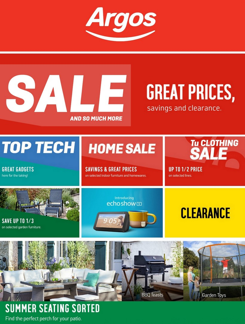 Argos Offers from July 2