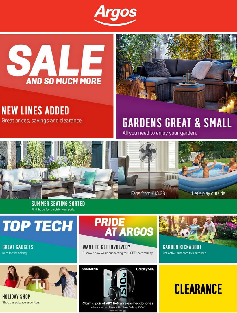 Argos Offers from July 9