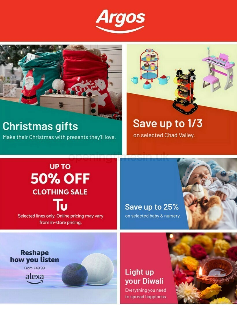 Argos Offers from November 10
