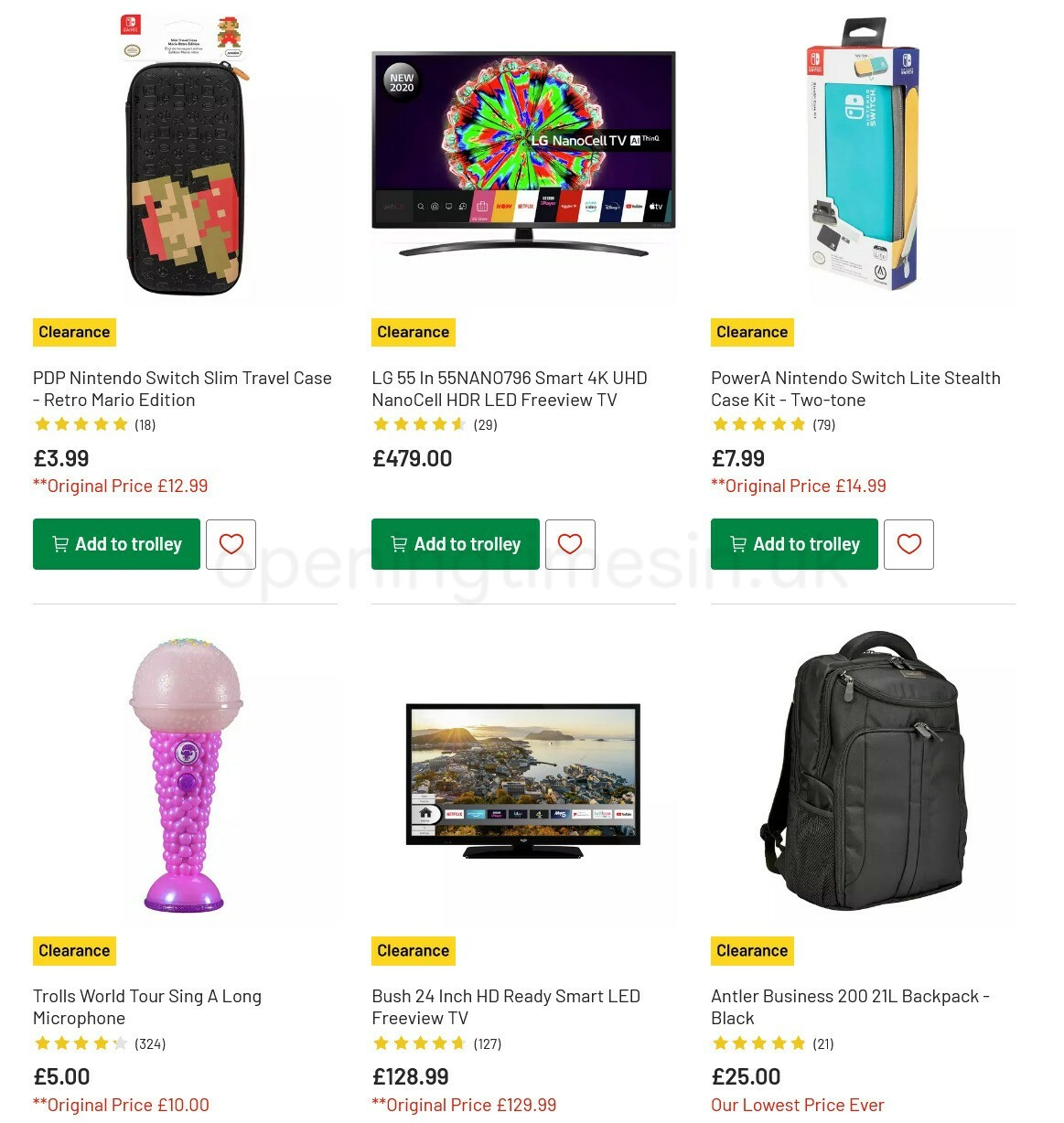 Argos Offers from February 15