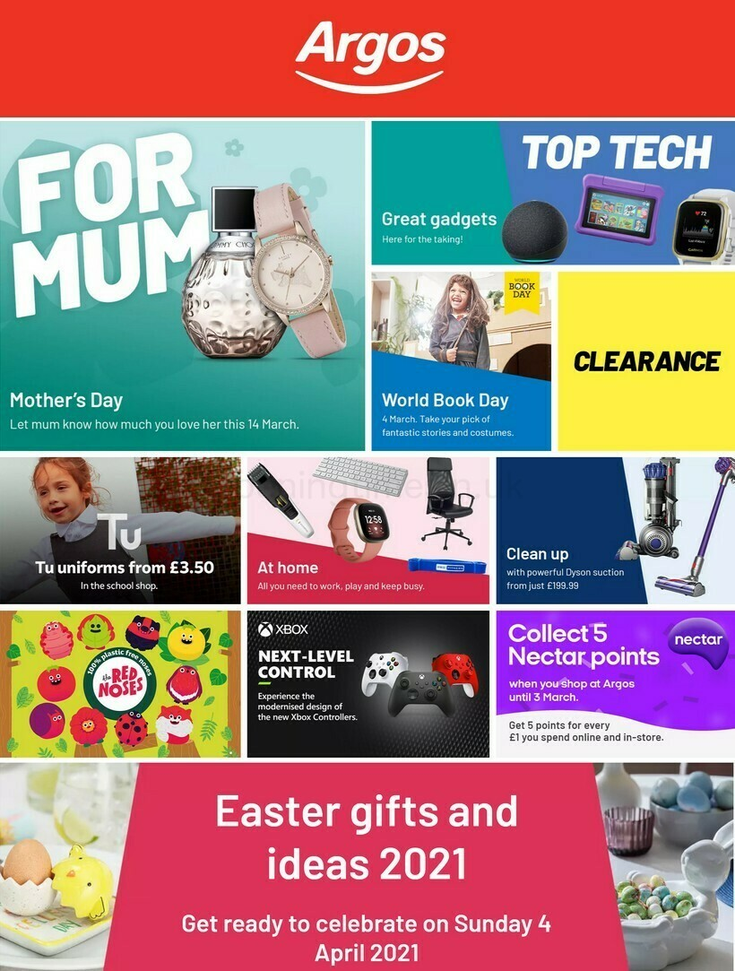 Argos Offers from March 1