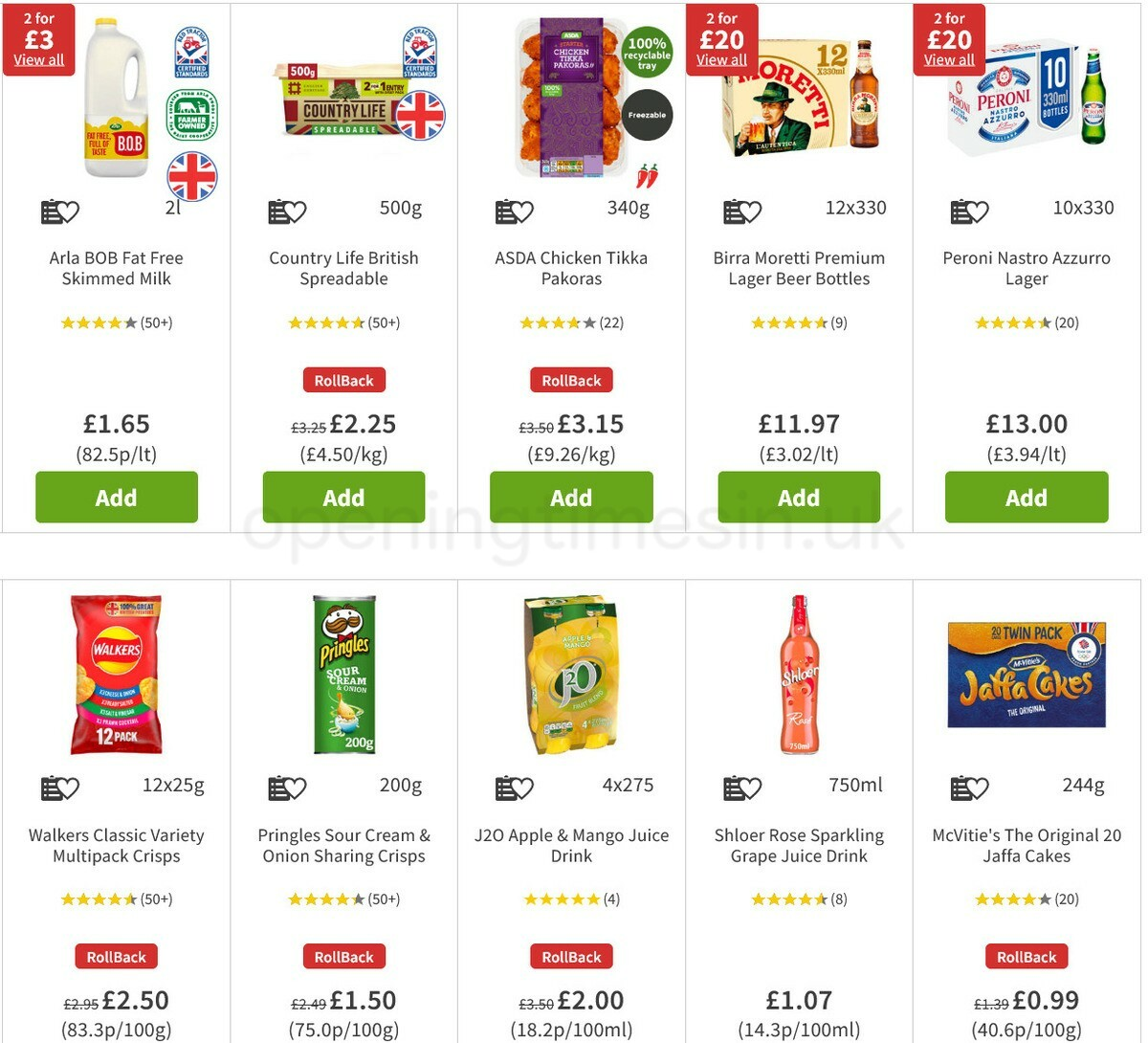 ASDA Offers from March 26