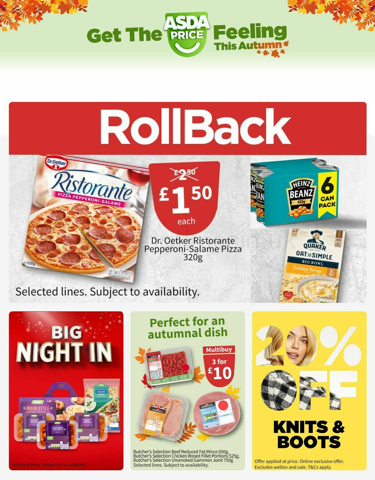 ASDA Offers from October 7