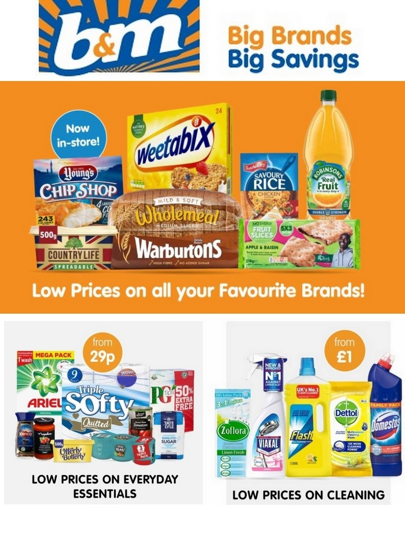 B&M Offers from March 24