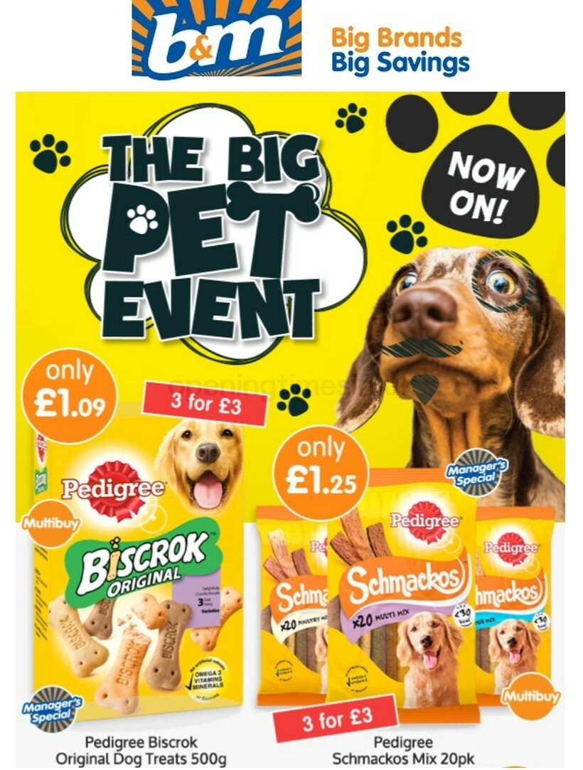 B&M Pet Event Offers from August 16
