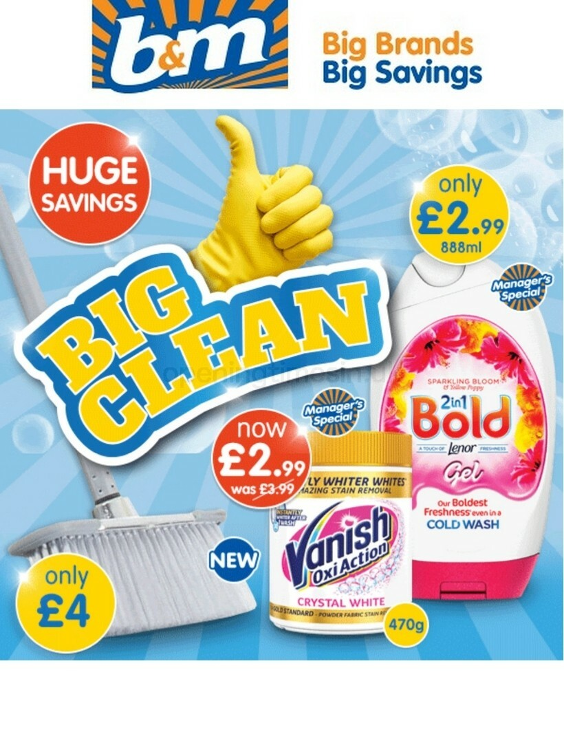 B&M Big Clean Offers from September 11