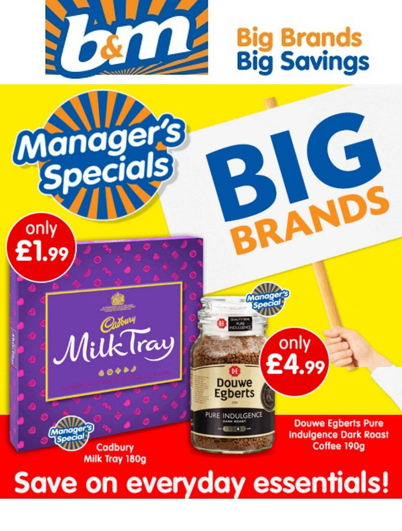 B&M Offers from November 15