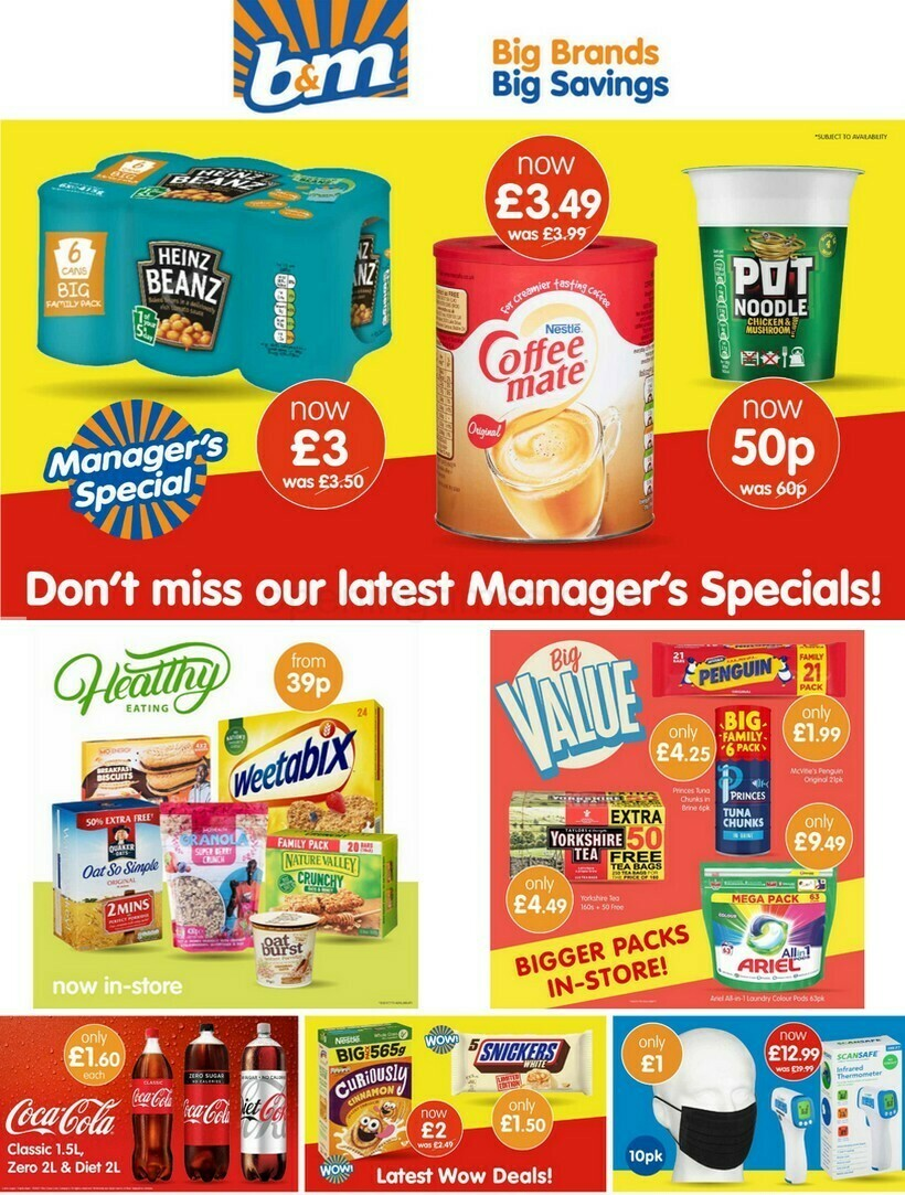 B&M Offers from January 12