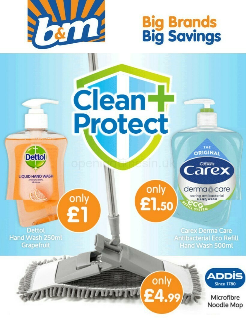 B&M Clean & Protect Offers from January 15