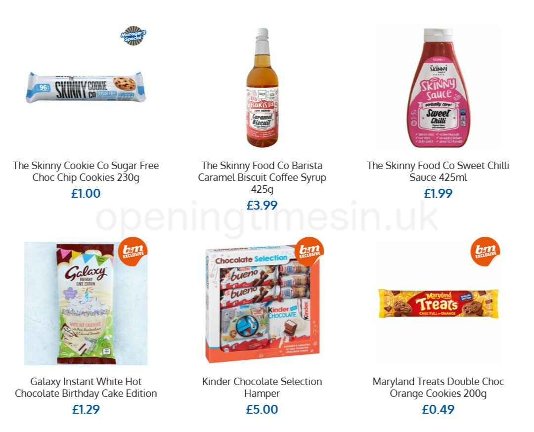 B&M Offers from April 21