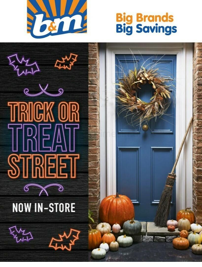 B&M Halloween Offers from September 24