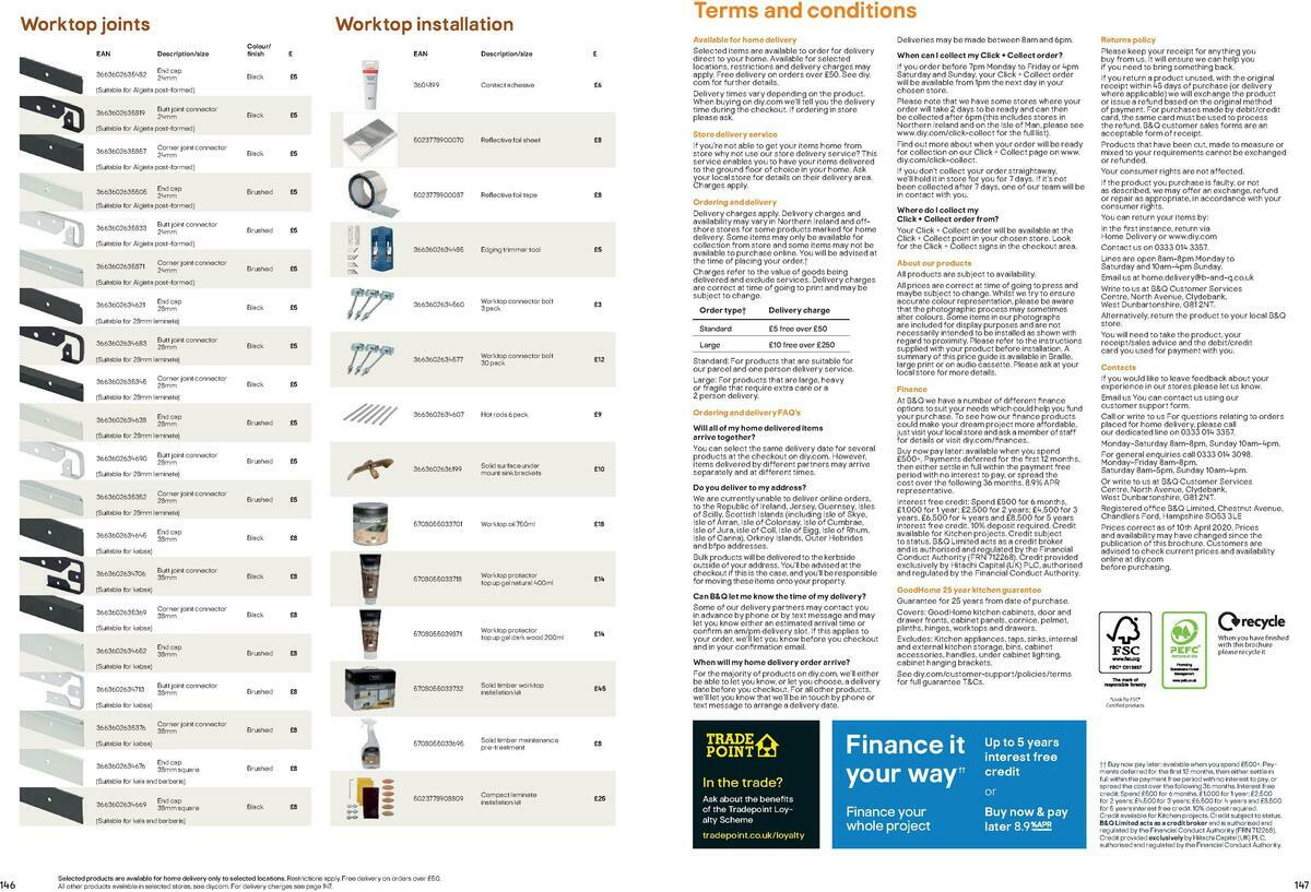 B&Q Kitchen Cabinets price list Offers from September 15