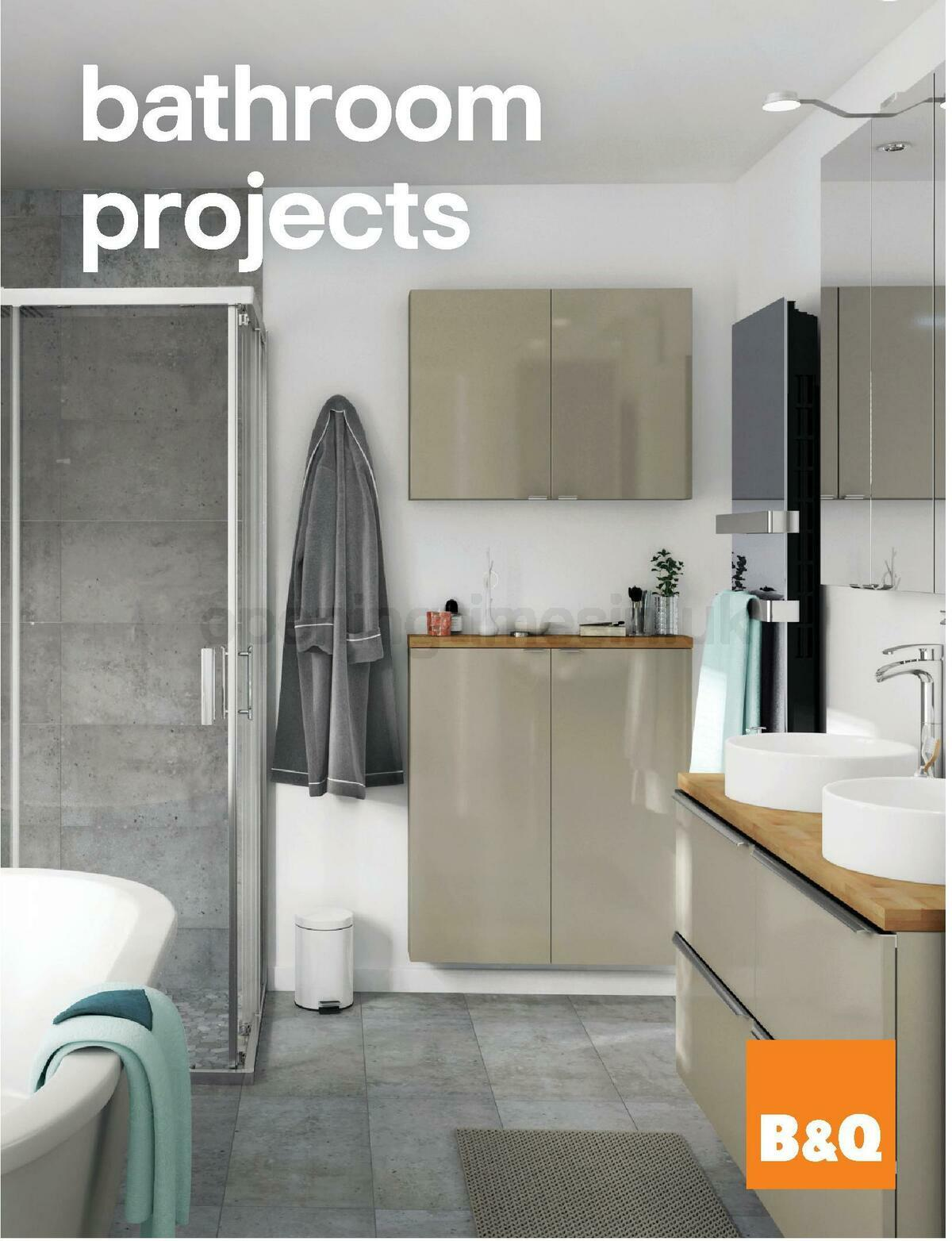 B&Q Bathroom Projects Offers from February 7