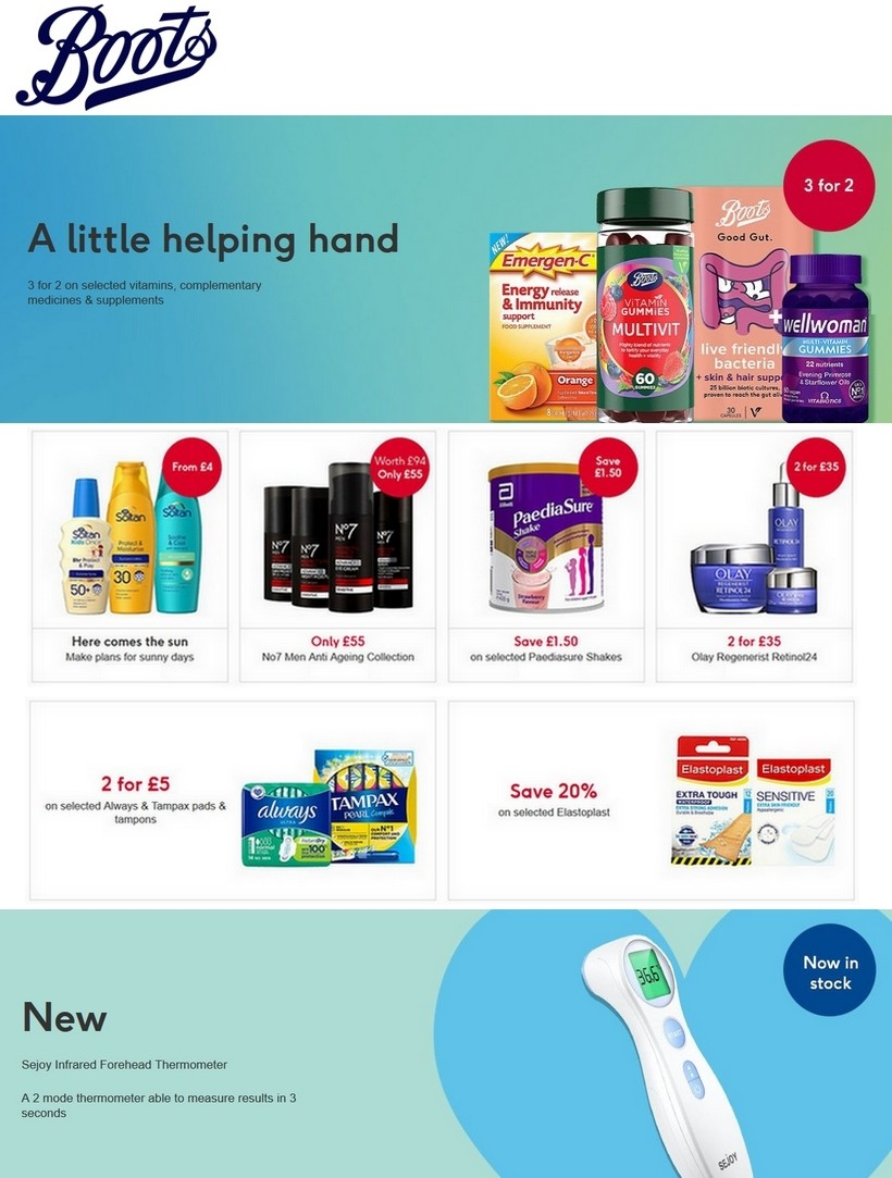 Boots Offers from May 18