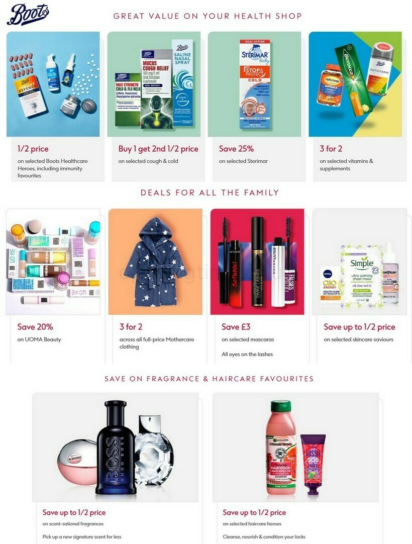 Boots Offers from September 18