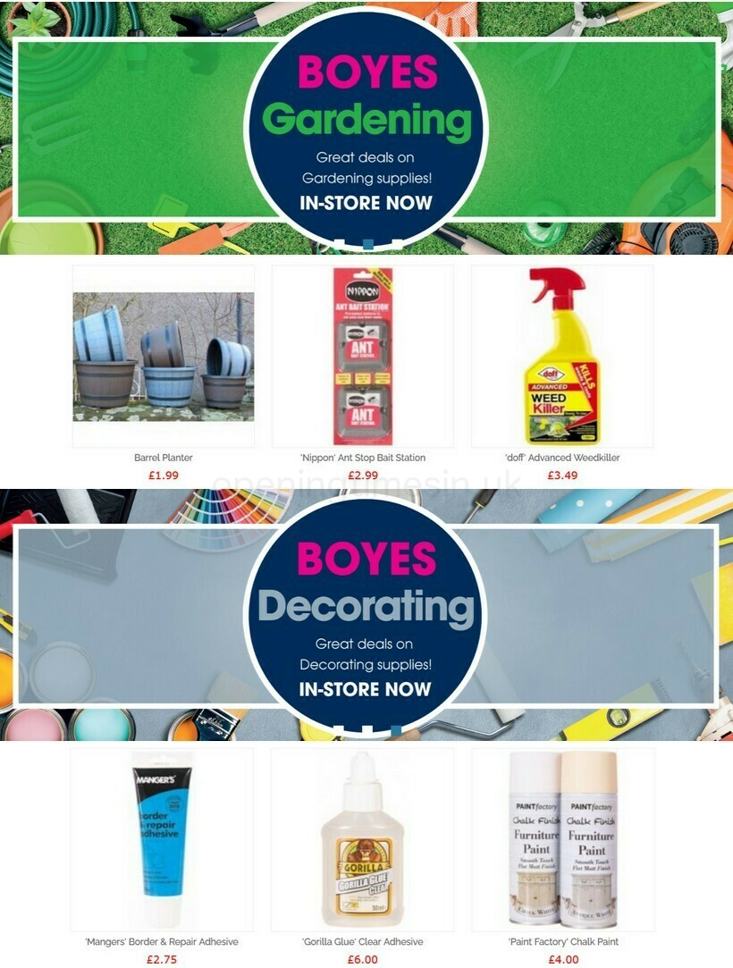 Boyes Offers from March 16