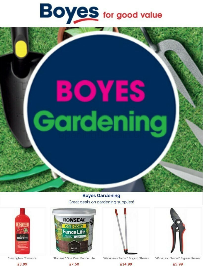 Boyes Offers from June 26