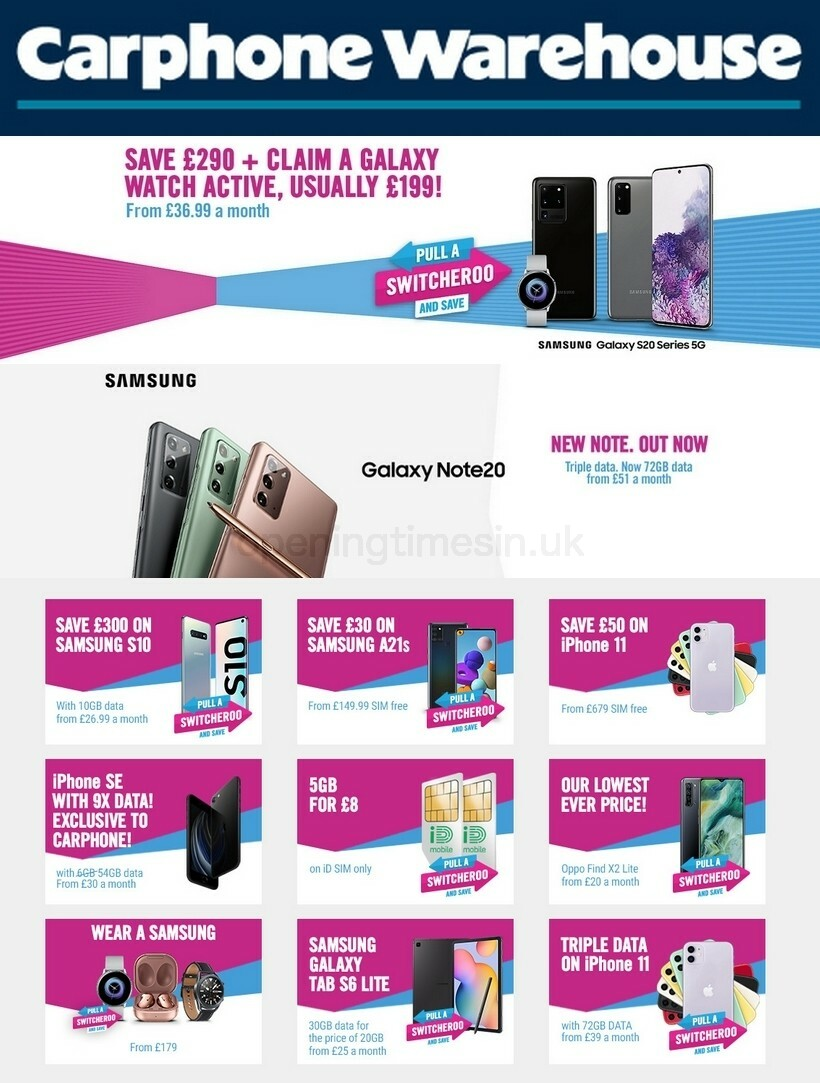 Carphone Warehouse Offers from September 11