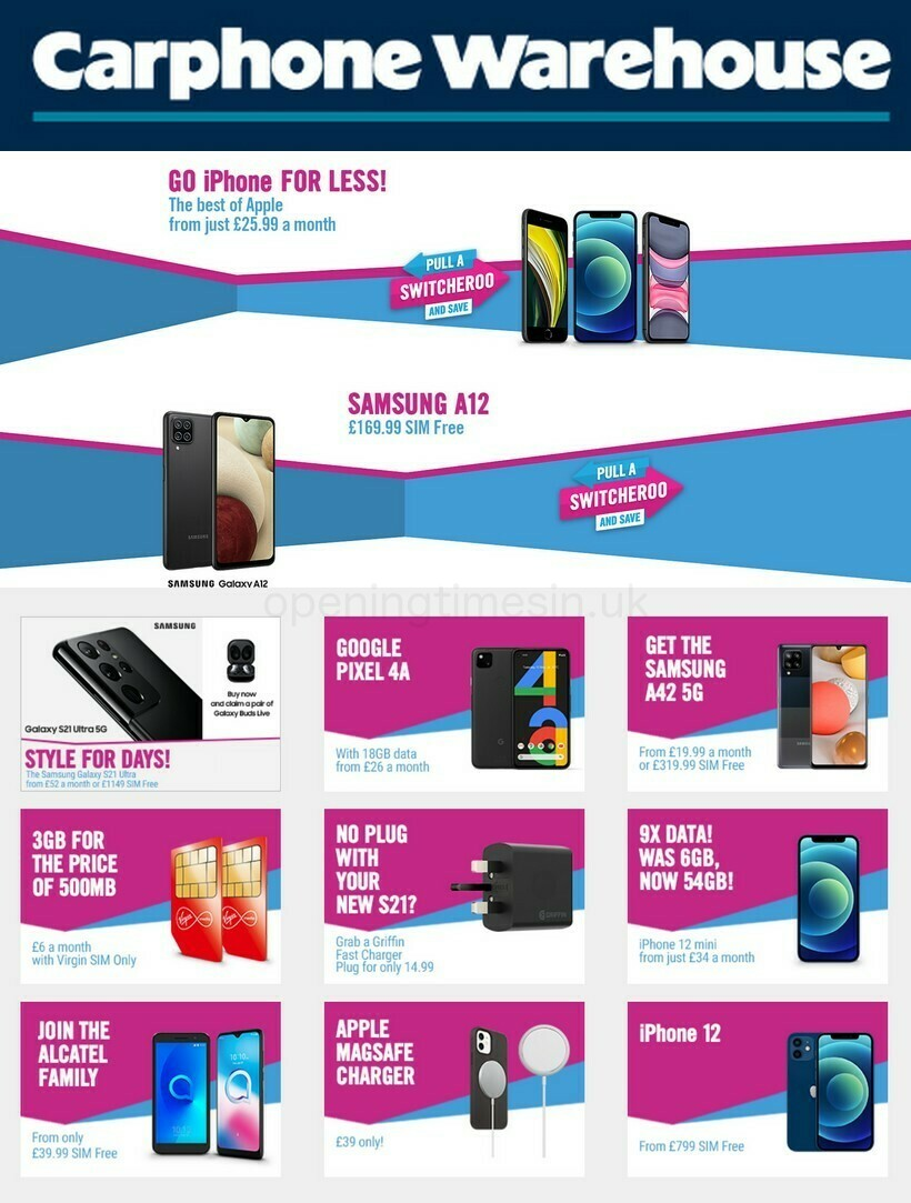 Carphone Warehouse Offers from February 4