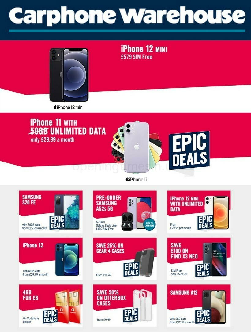 Carphone Warehouse Offers from August 28
