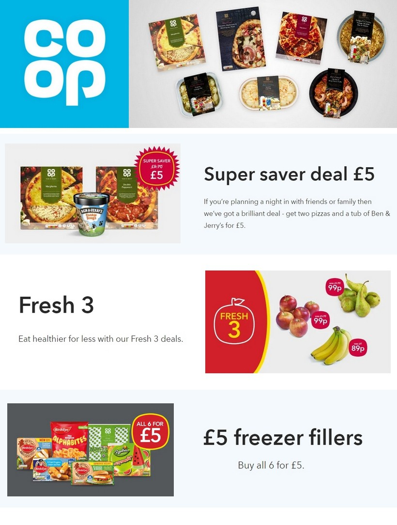 Co-op Food Offers from October 19