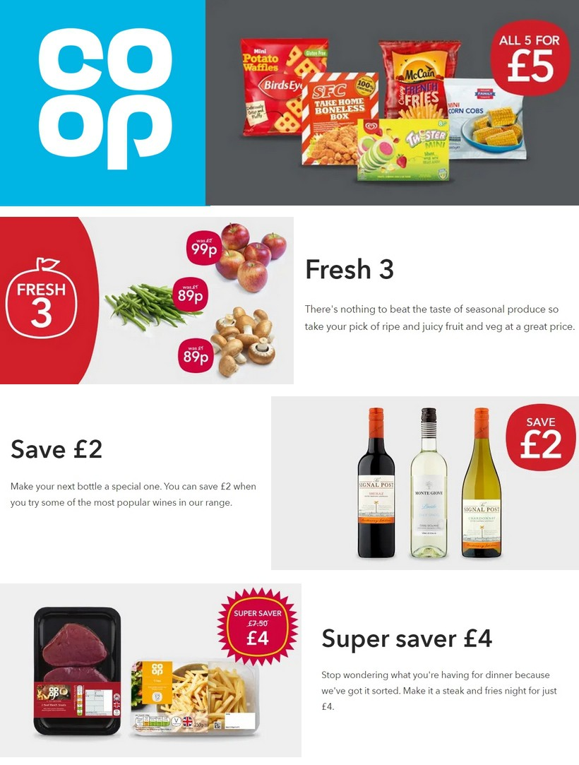 Co-op Food Offers from November 16