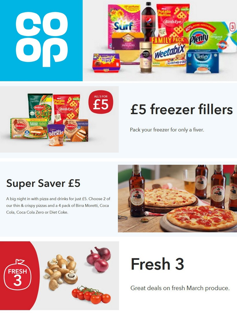 Co-op Food Offers from March 14