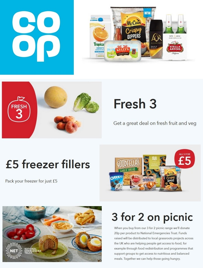 Co-op Food Offers from July 18