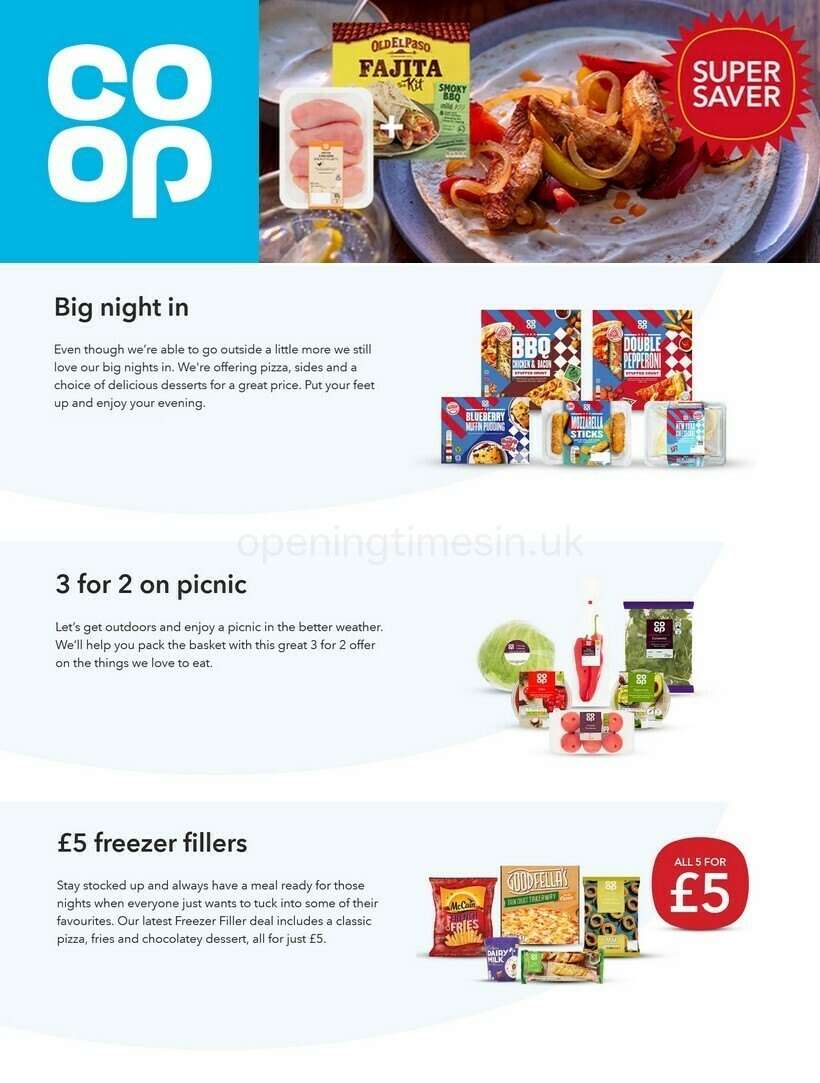 Co-op Food Offers from April 21