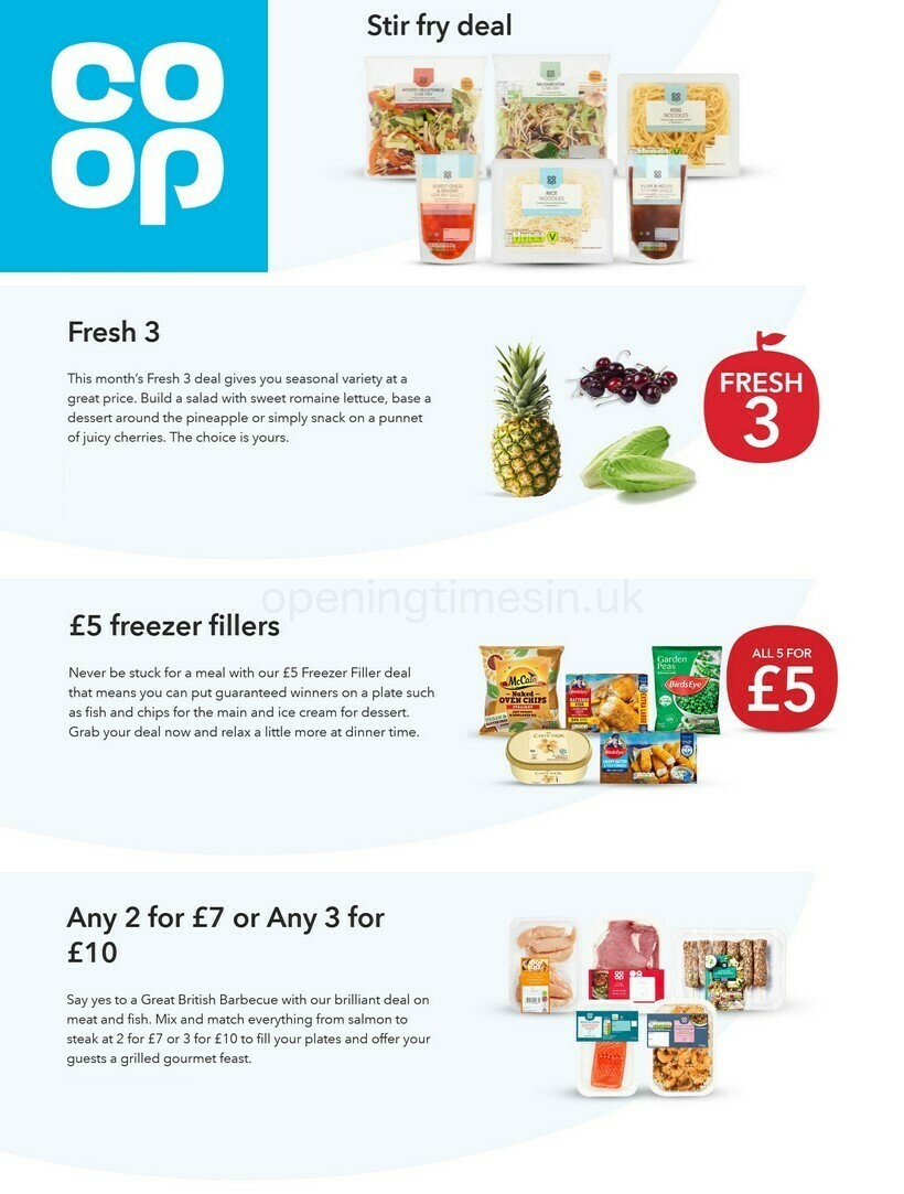 Co-op Food Offers from June 2
