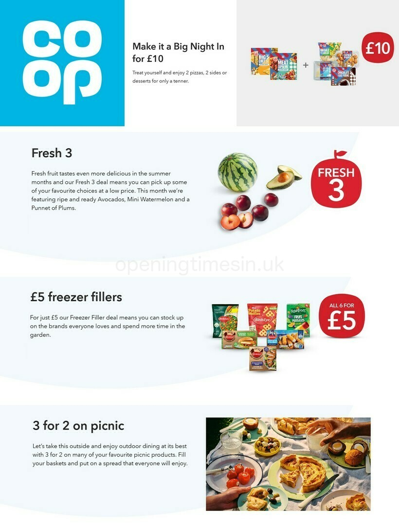 Co-op Food Offers from July 21