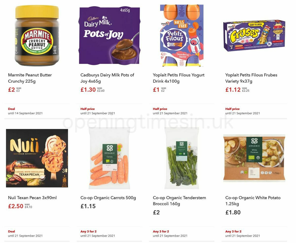 Co-op Food Offers from September 1