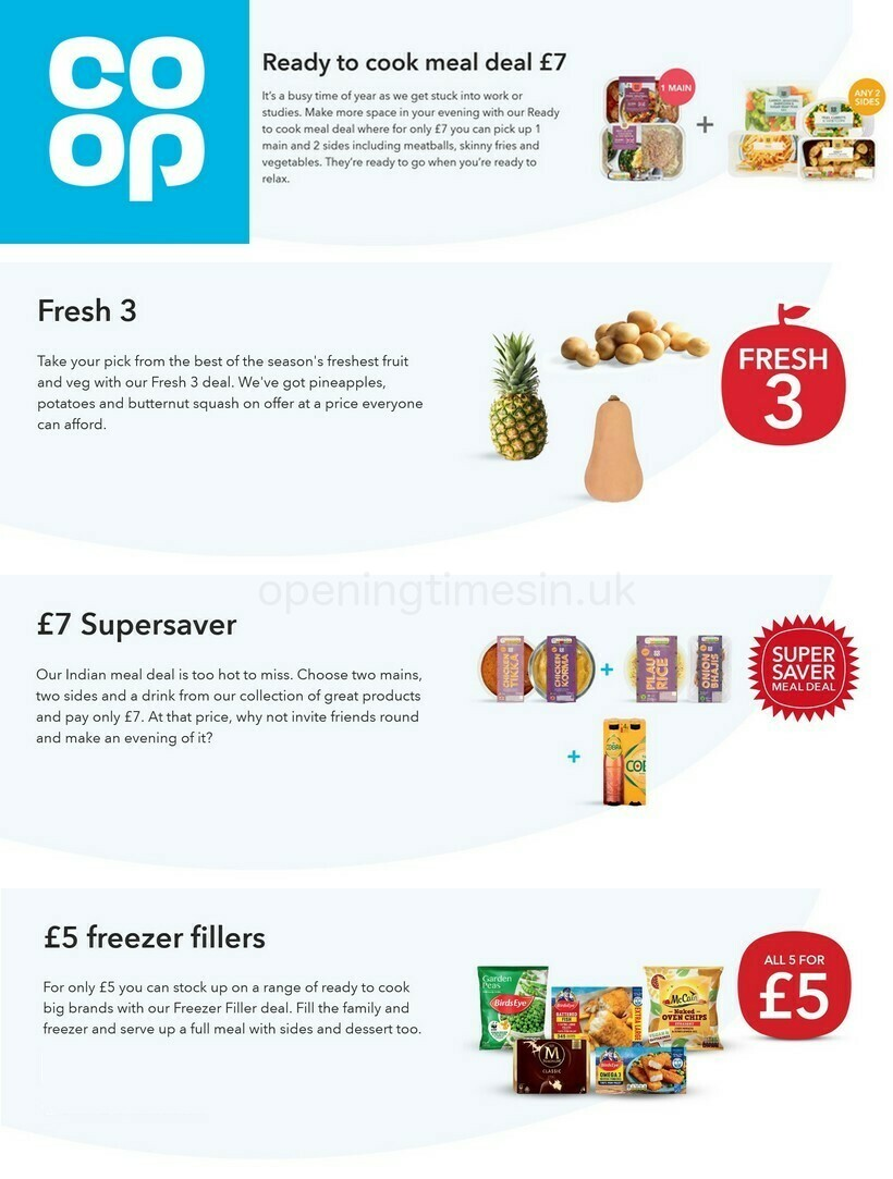Co-op Food Offers from September 22