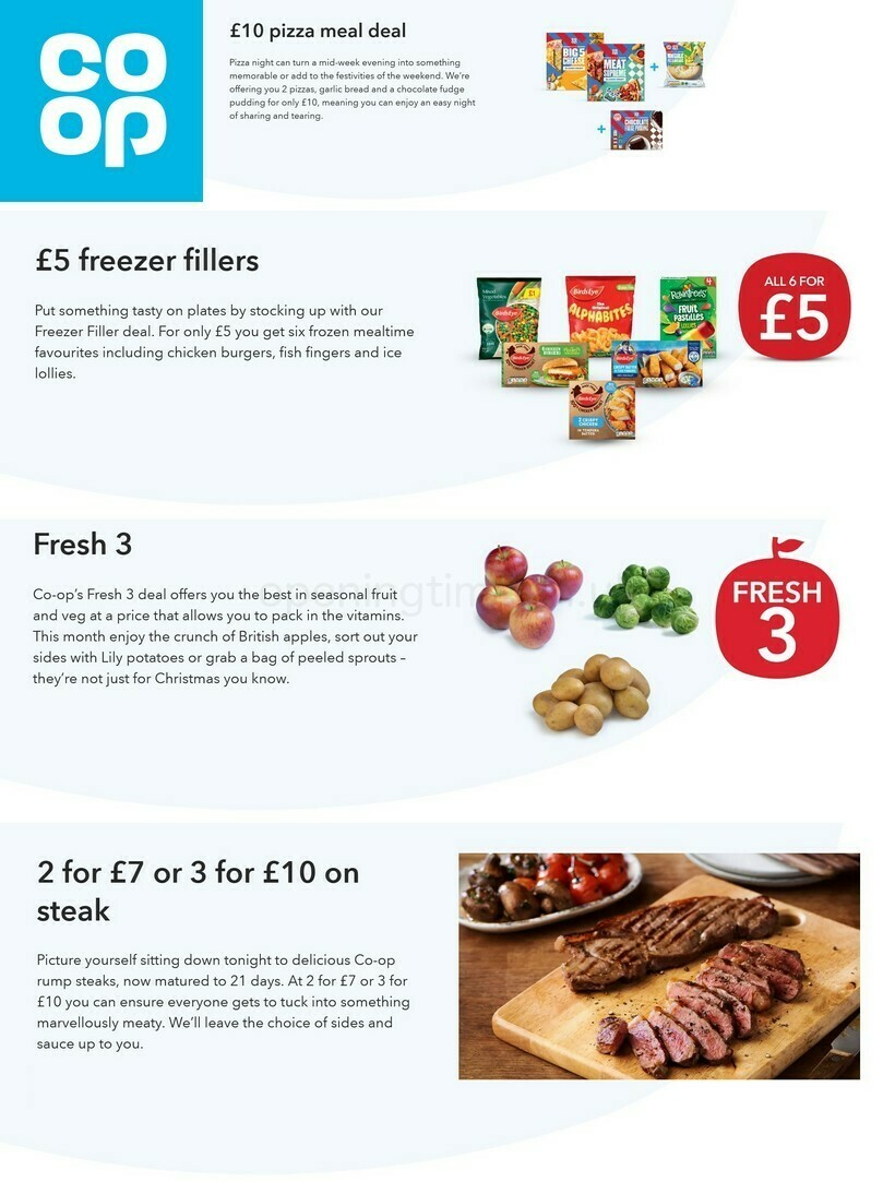 Co-op Food Offers from October 13