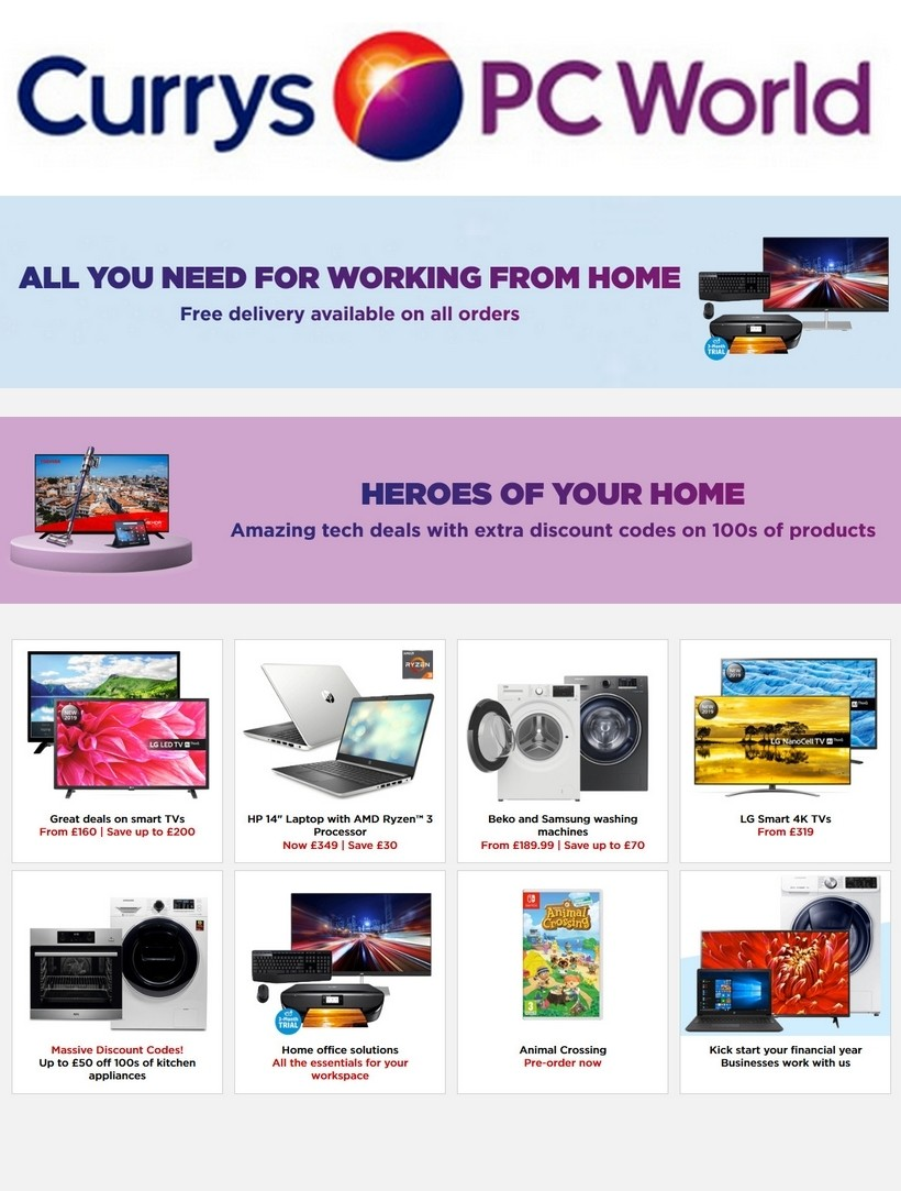 Currys Offers from March 20