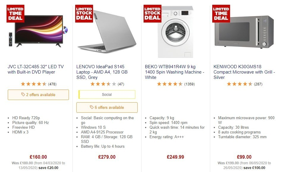 Currys Offers from June 26