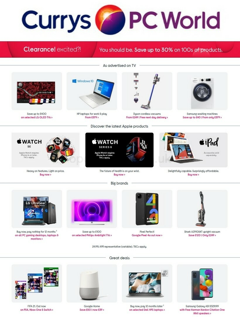 Currys Offers from October 9