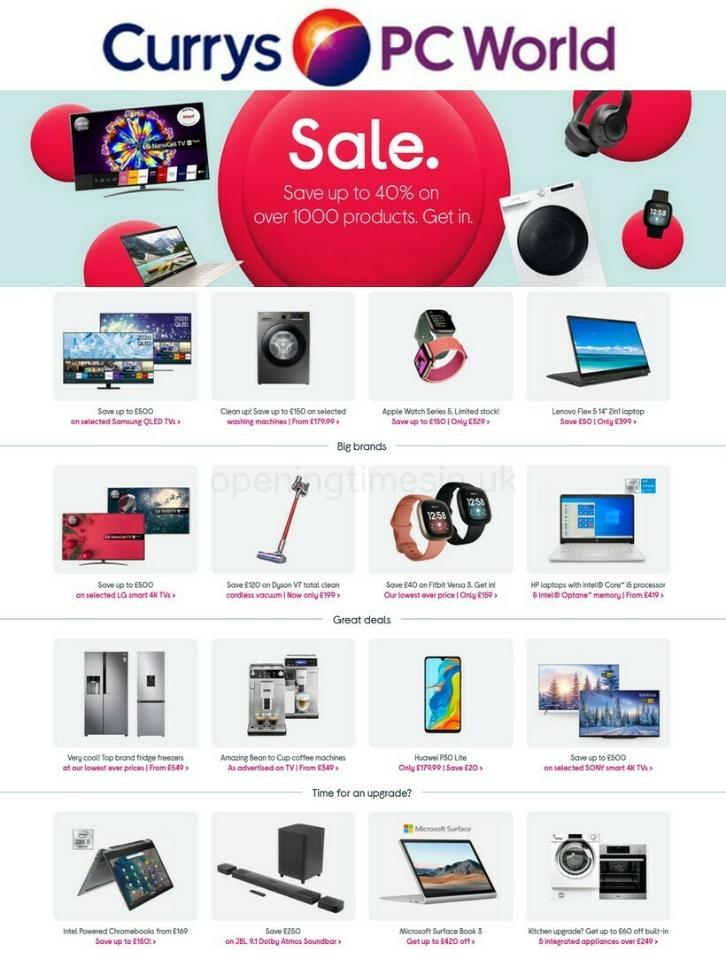 Currys Offers from December 29