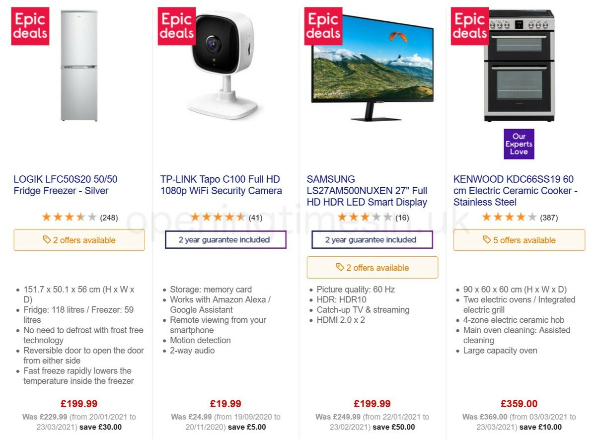 Currys Offers from March 25