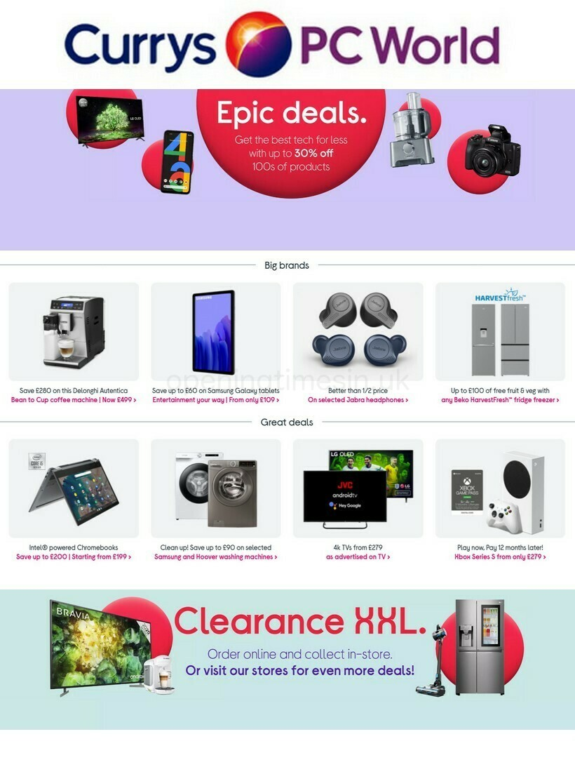 Currys Offers from May 27