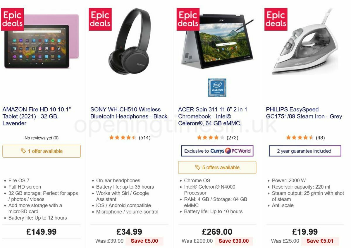Currys Offers from September 3