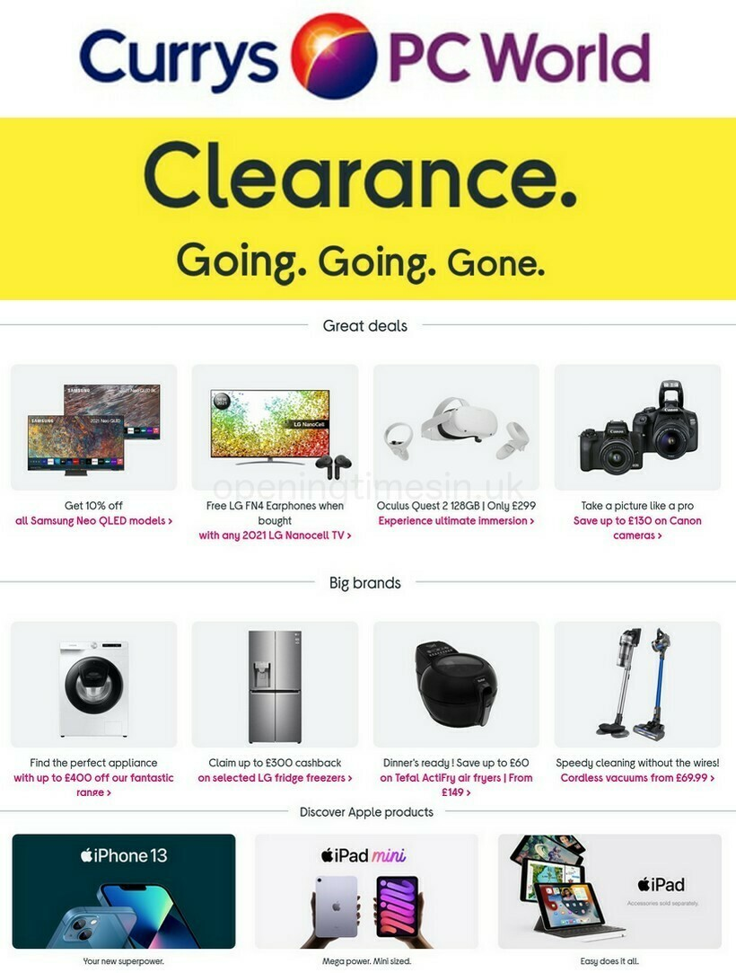 Currys Offers from September 16