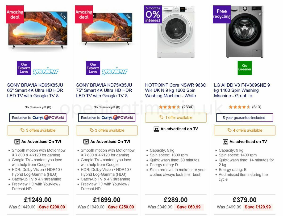 Currys Offers from September 30