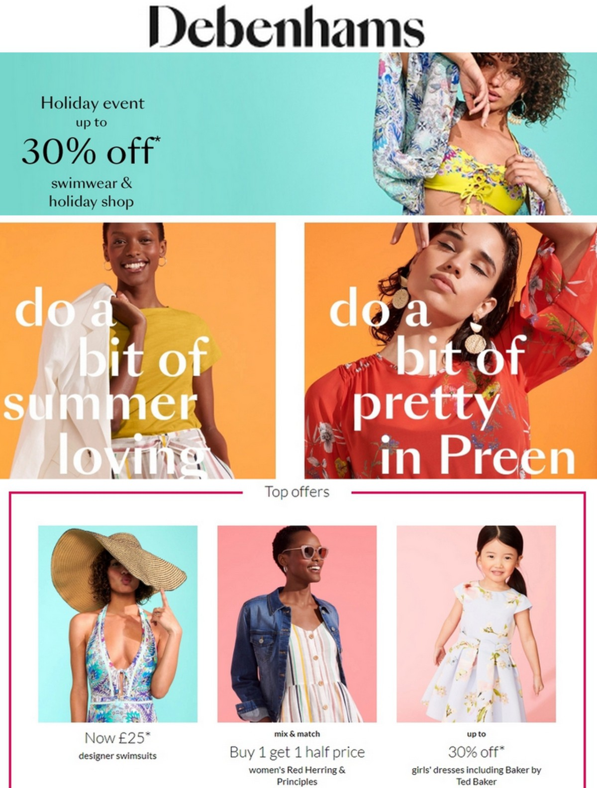 Debenhams Offers from May 16
