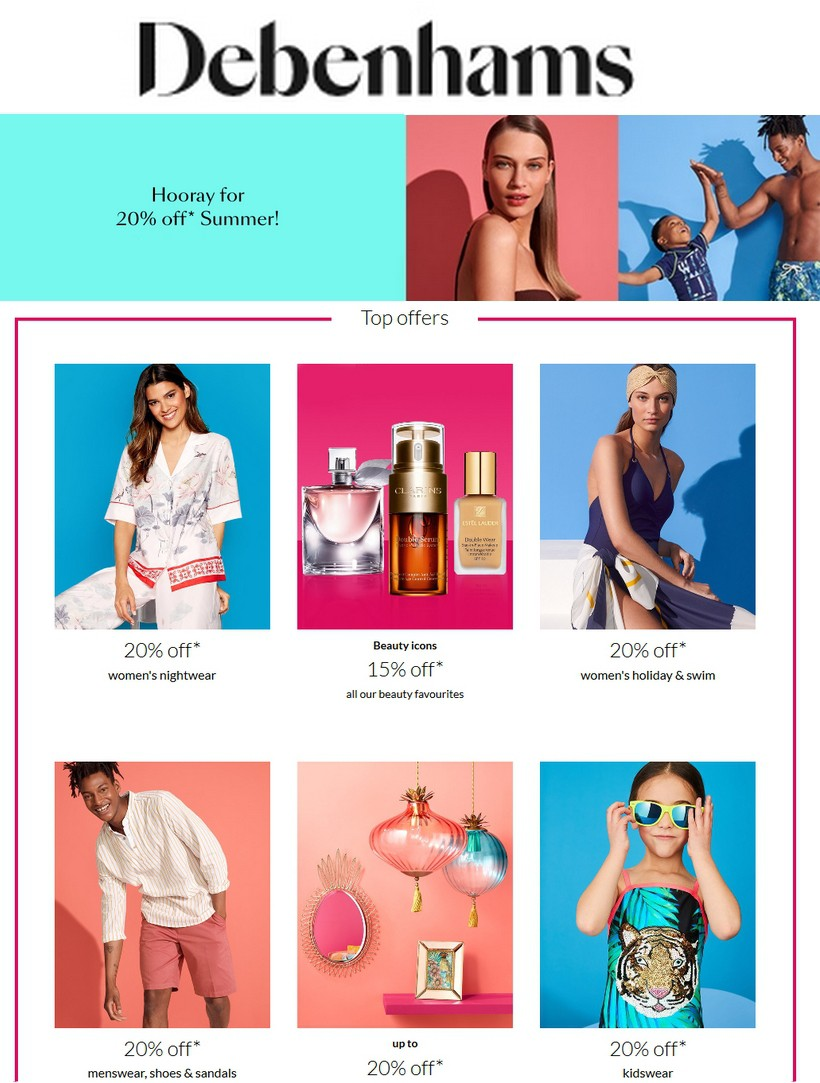 Debenhams Offers from June 1