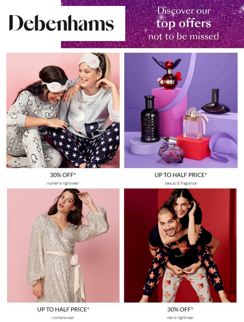 Debenhams Offers from December 5