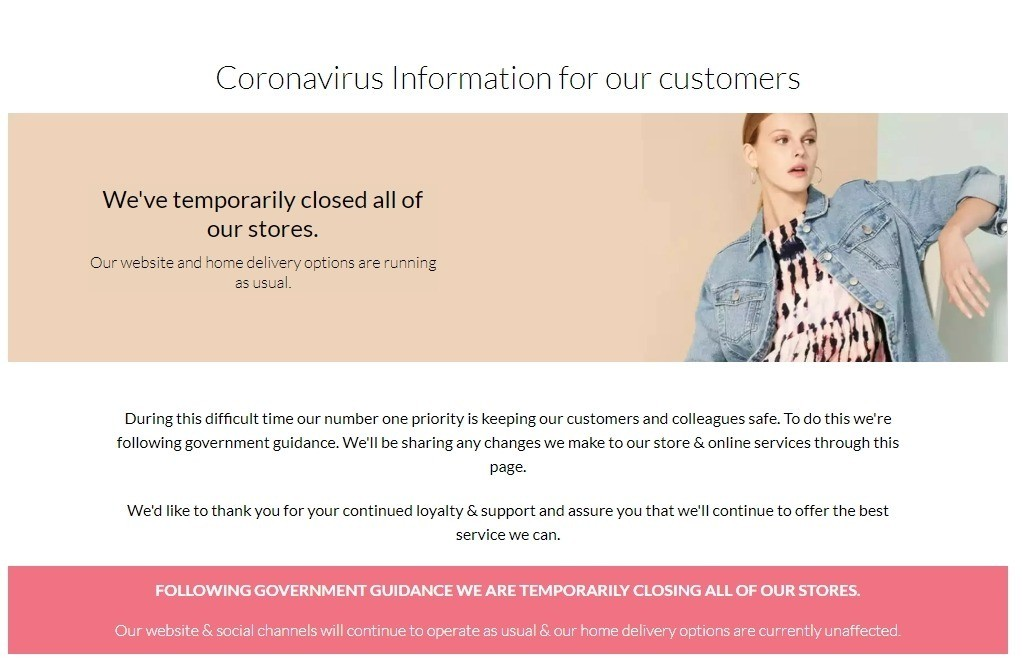 Debenhams COVID-19 Offers from March 24