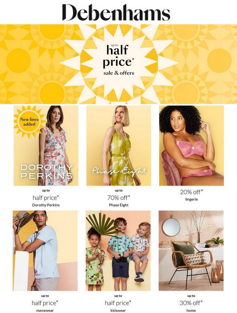 Debenhams Offers from July 3